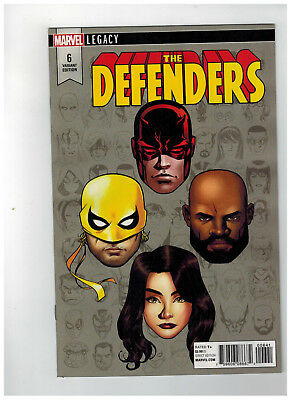 DEFENDERS #6  1st Printing - Headshot Variant Cover  1:10   / 2017 Marvel Comics