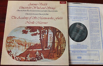 Argo Zrg 839 Vivaldi Wind Concs Lp Marriner Nm Bassoon Oboe Flute (1977) England