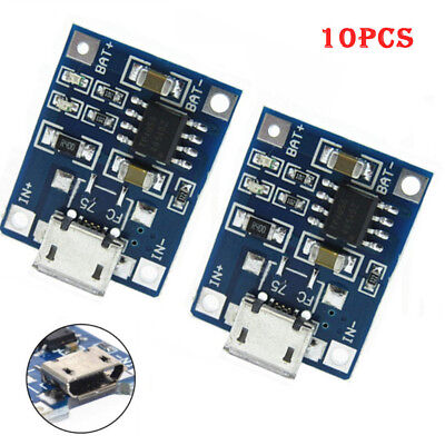 10Pcs 1A5V TP4056 Lithium Battery Charging Module USB Board Electronic Component