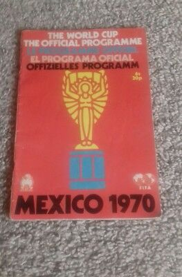 World Cup Final Tournament Programme Mexico 1970