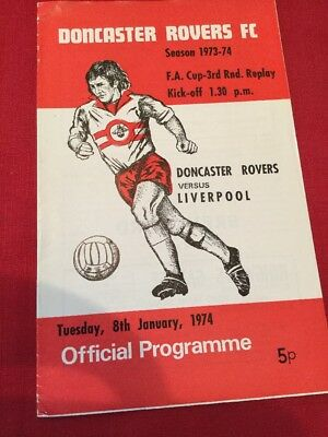 Doncaster Rovers V Liverpool 1973-74 Fa Cup 3Rd Round Replay