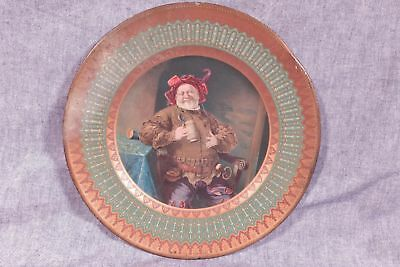 Antique Pre Pro Beer Tray Dresden Tin Art Plate #206 Jack Falstaff
