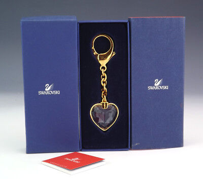 Swarovski Crystal Glass - Heart Formed Key Ring - Boxed!