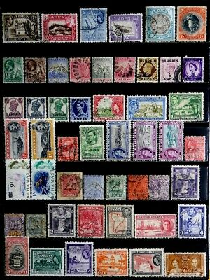 British Colonies: Classic To 60's Stamp Collection Aden, British Guiana, Bahamas