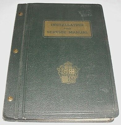 Vtg 1934 Frigidaire/GM Installation & Service Manual 14 Chapters