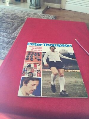 Liverpool Fc  Peter Thompson Testimonial Brochure 1977
