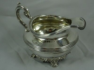 QUALITY, WILLIAM IV solid silver MILK JUG, 1833, 230gm