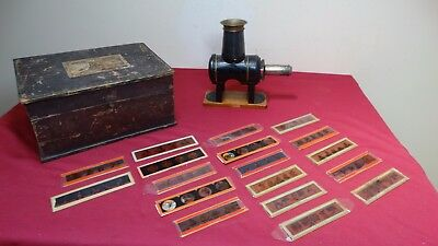 Childs / Toy Magic Lantern By Ernst Plank. Boxed With Slides.