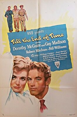 Till The End Of Time (1946) Stunning Guy Madison & Dorothy Mcguire Orig 27X41 1S