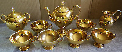 Noritake 1930s Gold Lustre Part Coffee Set (no saucers)