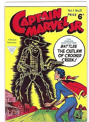 CAPTAIN MARVEL JR   # 21  1950s    BRITISH EDITION