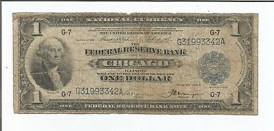 1914 $1 Large Chicago National Bank Currency