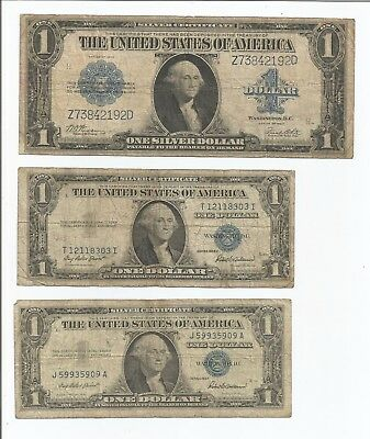 1923 Large $1 - 1935- 1957 $1 Silver Certificates