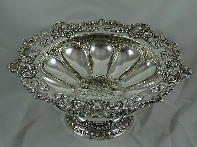 STUNNING, VICTORIAN silver FRUIT BOWL, 1900, 635gm