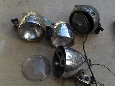 vintage cycle front light king of the road + others  bike components parts