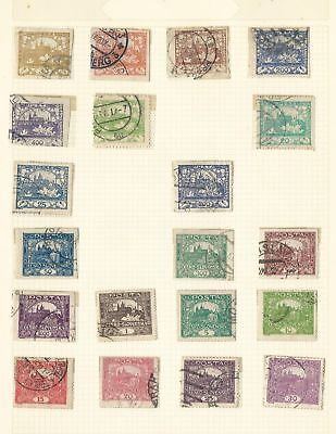Czechoslovakia Collection 1918-1970 on 41 Pages, All Different