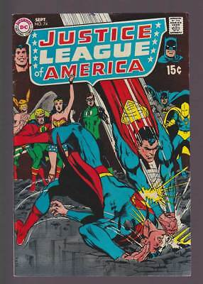 Justice League of America # 74  Supes vs Supes !  grade 6.5 scarce book !