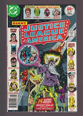 Justice League of America # 147  JLA/JSA/LSH teamup !  grade 8.5 scarce book !