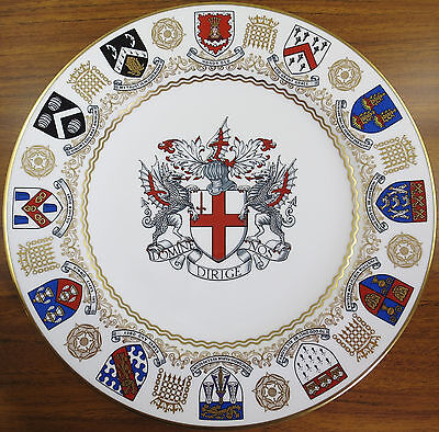 "Spode London Livery Armorial Bearings 10.6"" Plate"