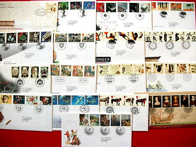 18 Royal Mail First Day of Issue Covers 1996-1997