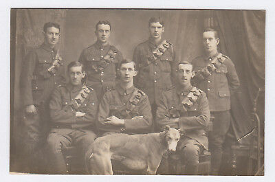 RP Postcard WW1 British Army Lothians & Border Horse Yeomanry . Jedburgh Photo