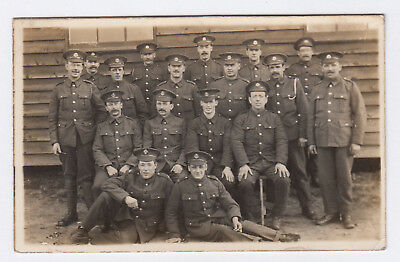 RP PC WW1 British Army.Soldiers Of Middlesex Rgmt Outside Hut, Uckfield Photo
