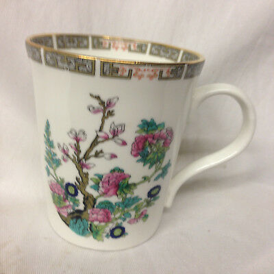 Crown Trent Staffordshire Crs76 Mug 10 Oz Indian Tree Pink & Blue Flowers