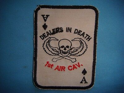 "VIETNAM WAR PATCH, US 1st CAVALRY DIVISION "" DEALERS IN DEATH """