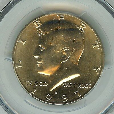 1987-D Kennedy 50 Cents  Pcgs Ms66