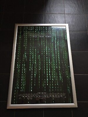 MATRIX 3D ADVANCE Holofoil US One Sheet Credits 300 Made POSTER FREE YOUR MIND