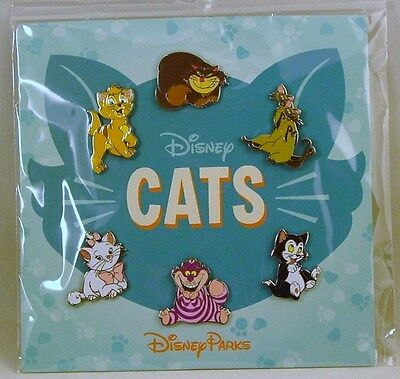 Disney Trading Pins CATS Figaro Cheshire Others Booster Set of 6