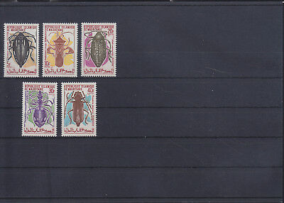 054832 Insekten Insects Mauritanie 387-91 ** MNH Year 1970