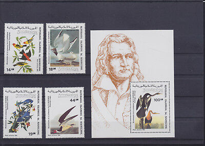 054837 Vögel Birds Mauritanie 852-55 + Block 61 ** MNH Year 1985