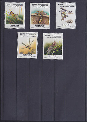 054843 Insekten Insects Mauritanie 950-54 ** MNH Year 1988