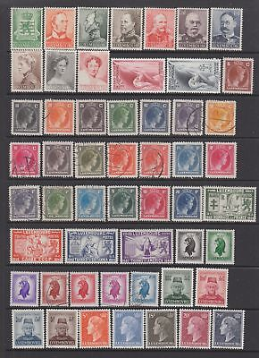Luxembourg 1939 - 1955 collection , 92 stamps.