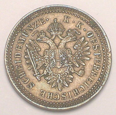 1851 A Austria Austrian One 1 Kreuzer Eagles Coin VF+
