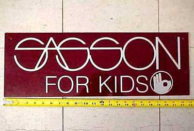 1970s Sasson Clothing Advertising Sign - Pre Law Suit