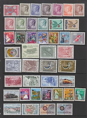 Luxembourg 1965 - 1968 collection , 77 stamps. fine MH