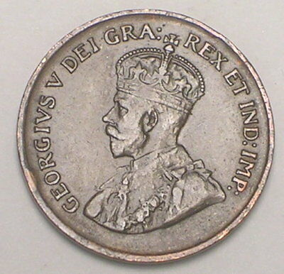 1928 Canada Canadian One 1 Cent King George V Coin VF