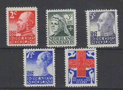 Netherlands 1927 Red Cross SG 354-358 fine MH