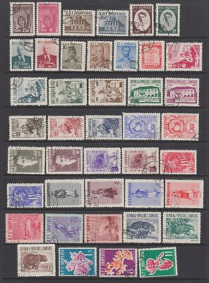 Albania 1960- 1961 collection, 51 stamps ,