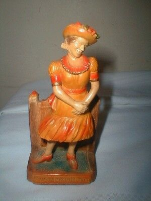 Early Cousin Minnie Pearl Chalk Figure Wrights Barren County Stoneware