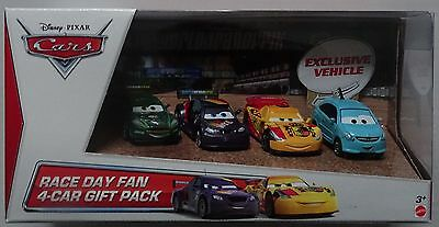 MATTEL® Y8394 Disney® Cars Race Day Fan 4-Car Geschenk Set