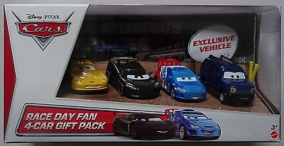 MATTEL® Y7334 Disney® Cars Race Day Fan 4-Car Geschenk Set
