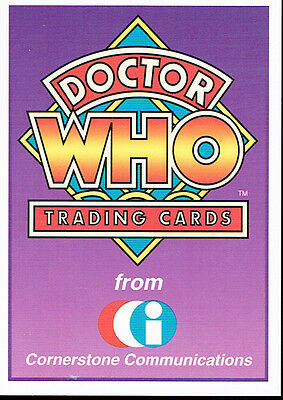 Doctor Who Cornerstone Series 1 Promo Card A1