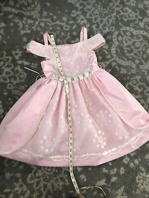 Vintage Girl Baby Pink Lace Toddler Wizard Of Oz Sleeping Beauty Costume Dress