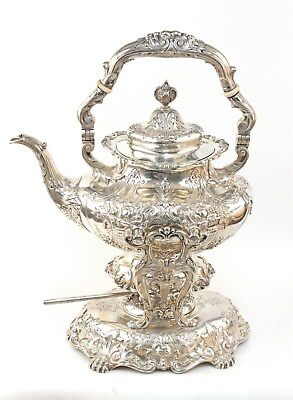 Reed & Barton Francis I Sterling Silver Kettle On Stand #570A Hand Chased