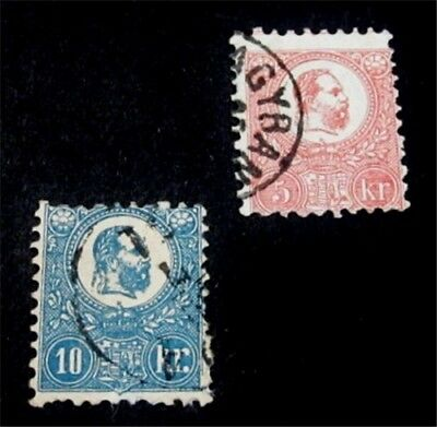 nystamps Hungary Stamp # 3 4 Used $125