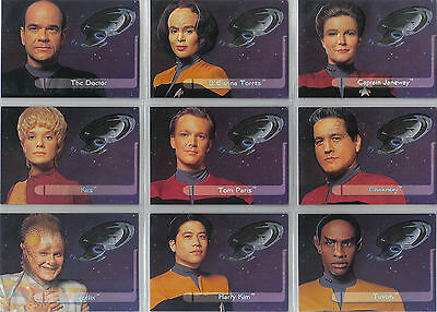 STAR TREK VOYAGER SEASON 1 SERIES 2  (lot of 10) SETS OF EMBOSSED CARDS