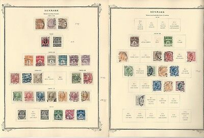 Denmark Collection 1851 to 1962 on 30 Scott Specialty Pages